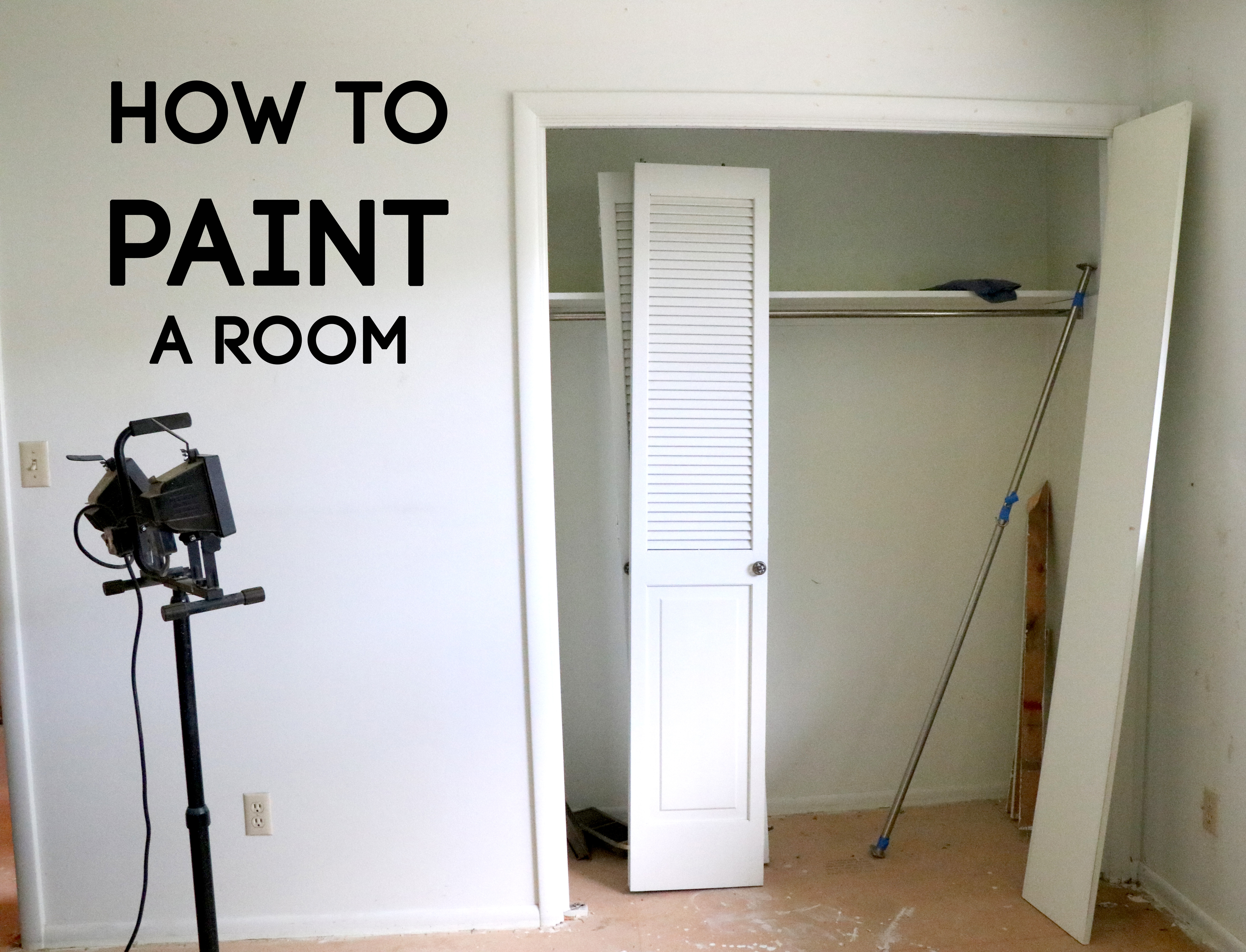 Everything you need to know about how to paint a room starting with the basics.