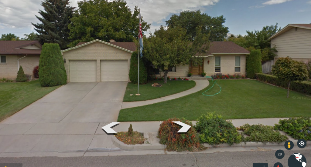 Here are some before pictures (thank you Google Earth) for what our curb appeal looked like when we moved in.