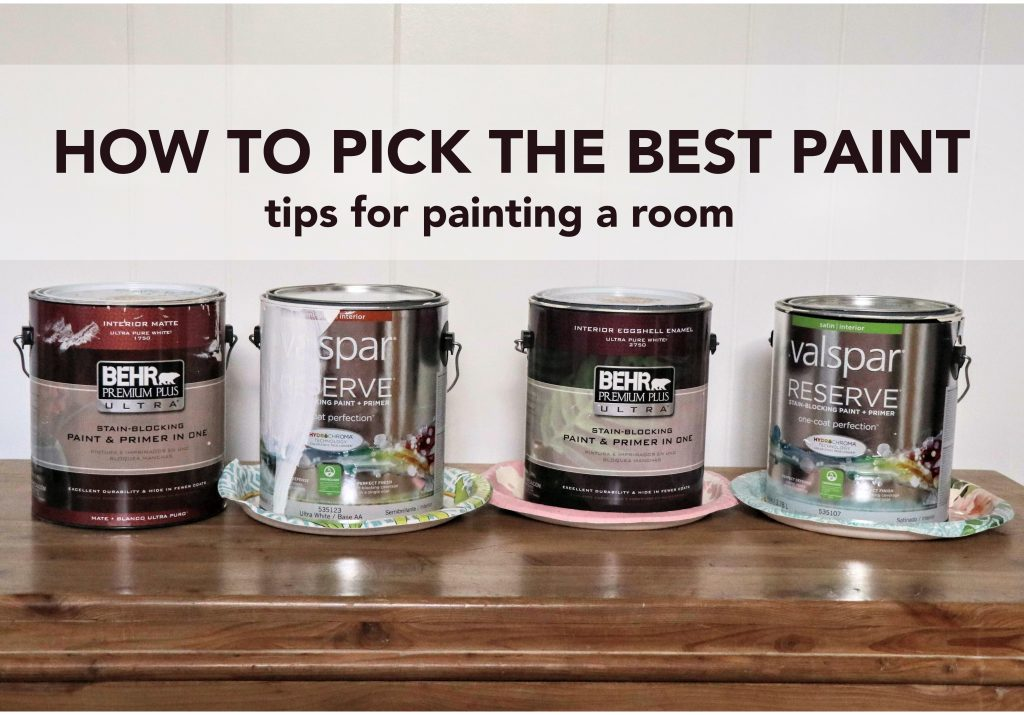 The best paint to paint a room. We are reviewing the pros and cons of our top three brands of paint.