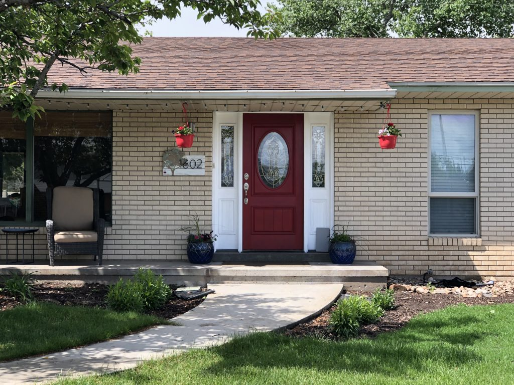 """Here's an """"After"""" shot, since technically we are still waiting for the painter to come in and paint. How to improve your curb appeal quickly."""