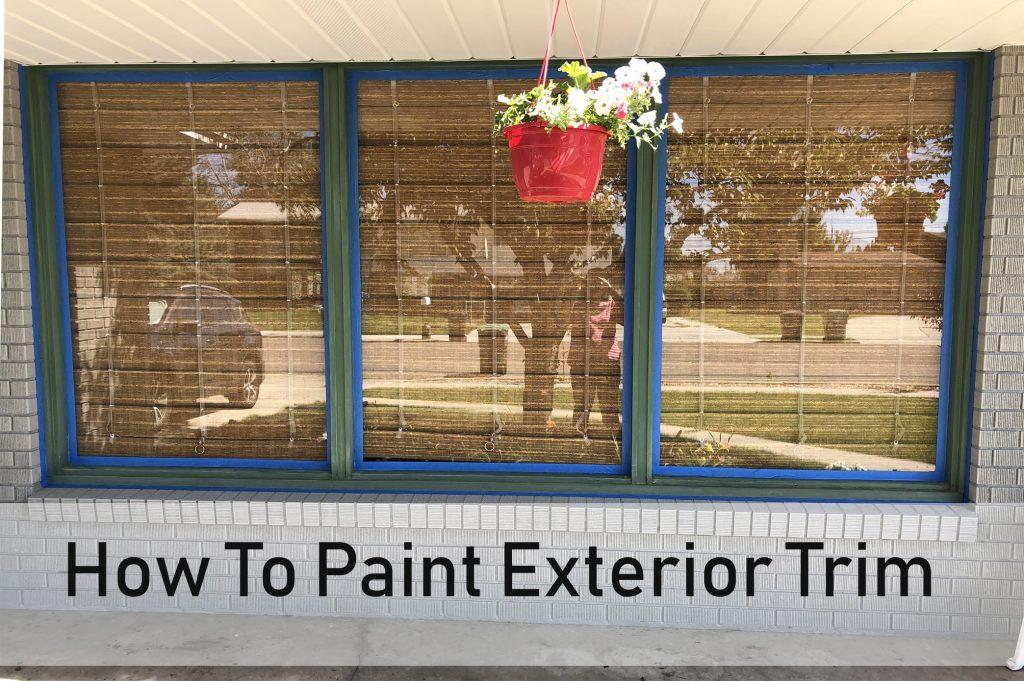 How to Paint Exterior Trim