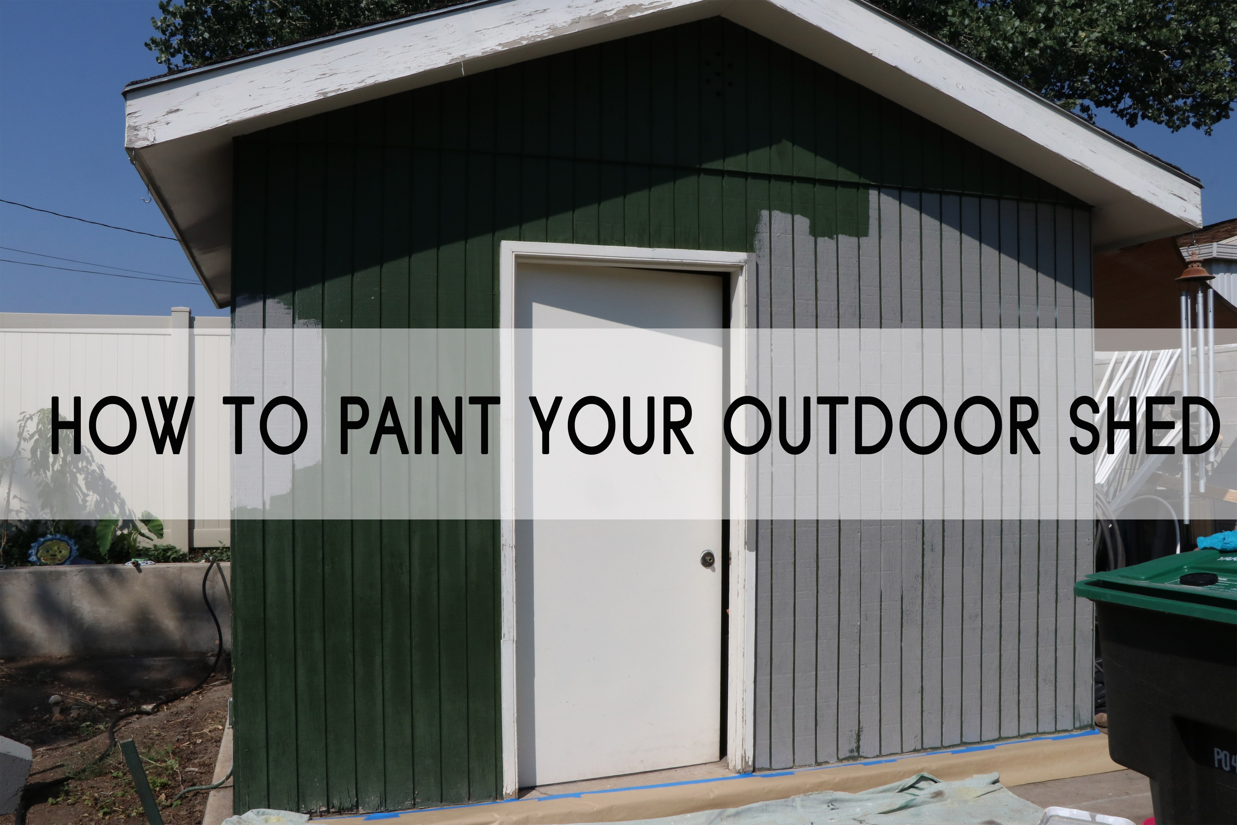 How to Paint Your Outdoor Shed