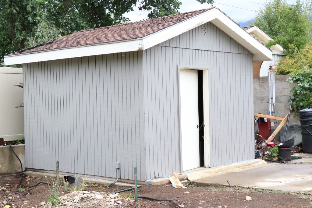 how to paint your outdoor shed - After 1