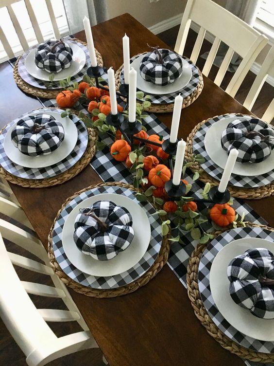 Buffalo Check Thanksgiving Tablescape