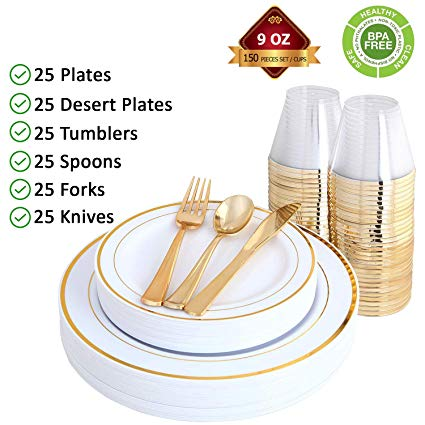 My favorite Gold Party Place Settings