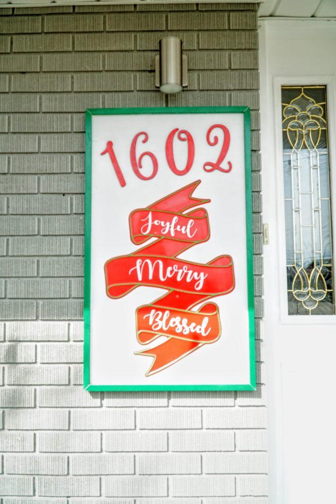 Christmas Address Plaque Sign
