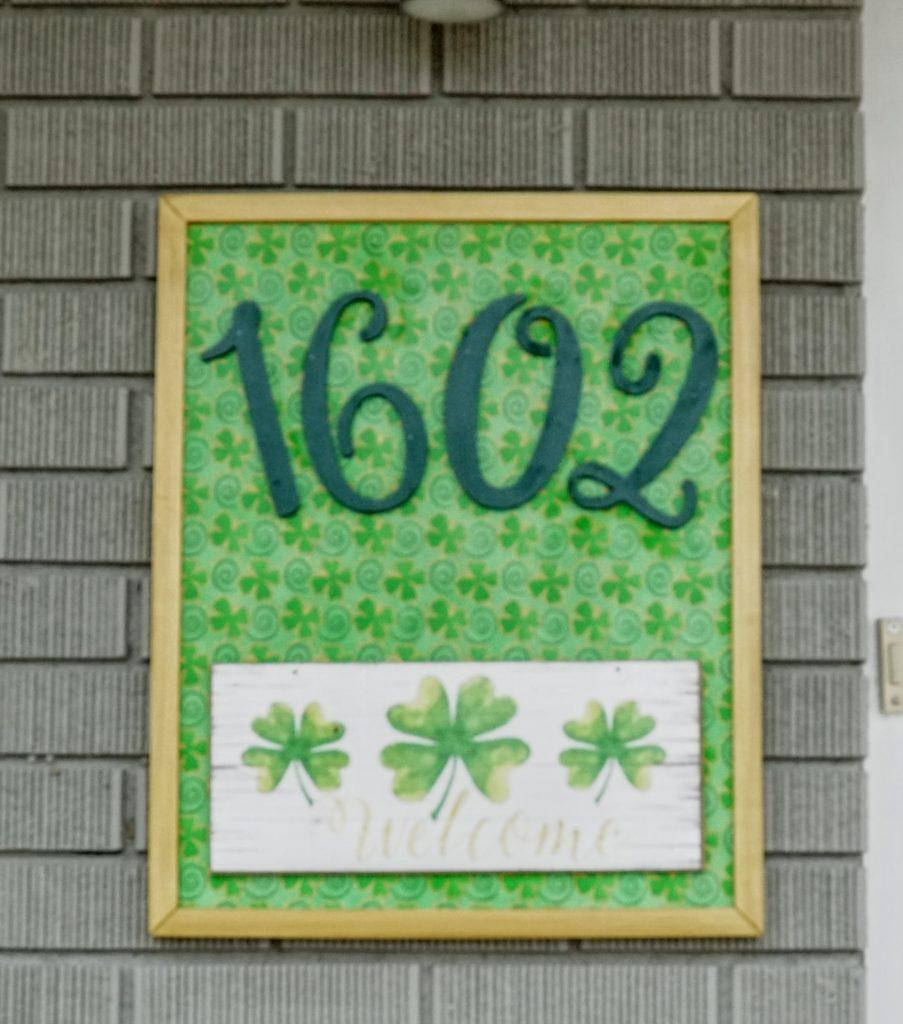 St. Patrick's Day Address Sign - Green