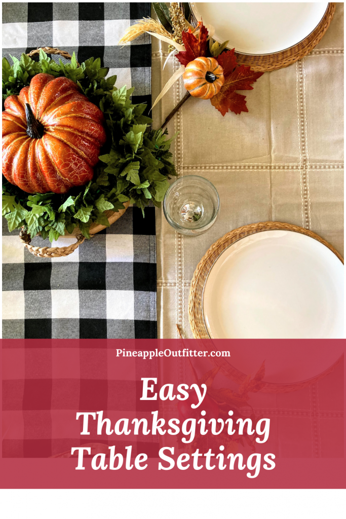 Rustic and Simple Thanksgiving Table Settings