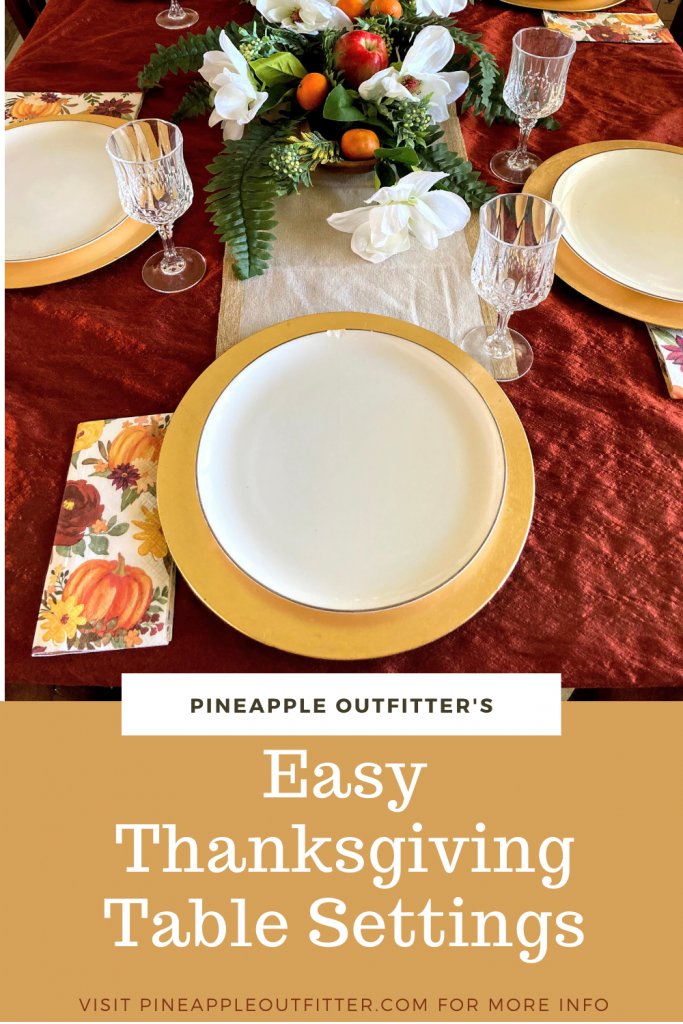 That formal look you want for your Thanksgiving Table Settings is Easy Peasy