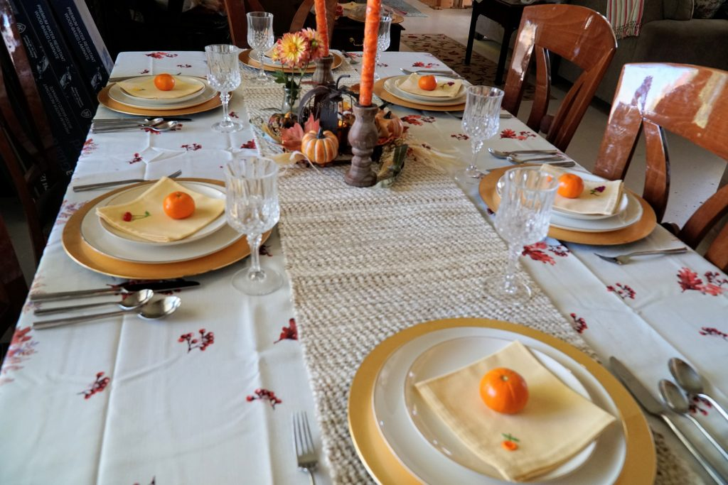 Formal Thanksgiving Tablescape on a Budget