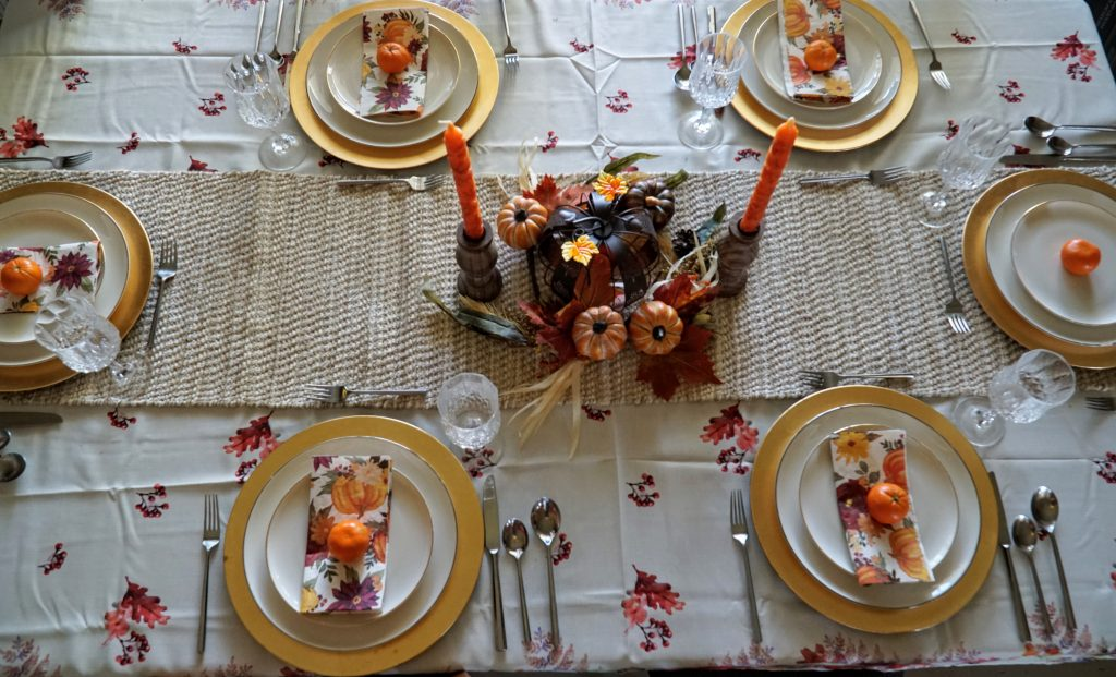 Formal Thanksgiving Tablescape on a Budget - paper napkins
