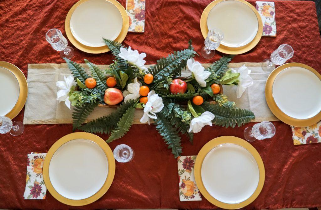 Easy Thanksgiving Formal table.