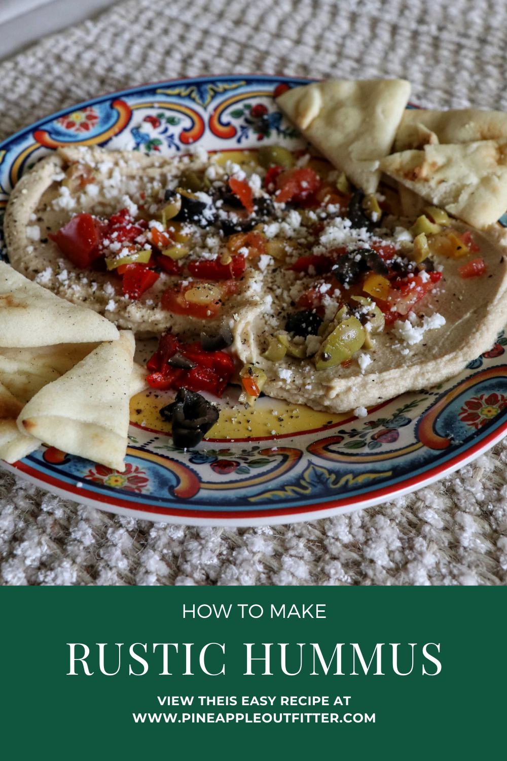 how to make rustic hummus - Cover