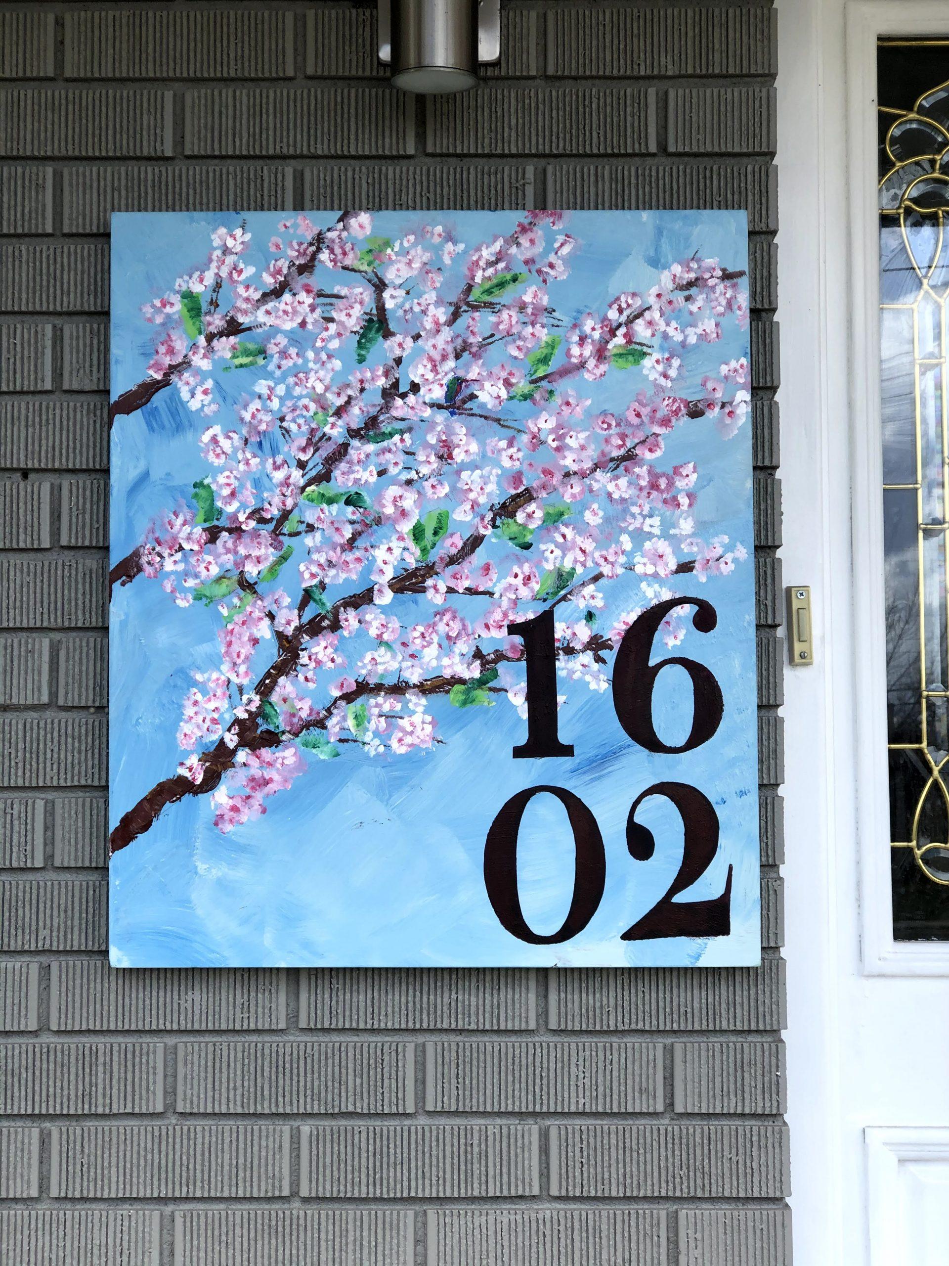 Cherry Tree Address Plaque